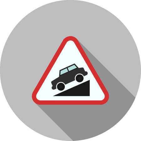 Slope ahead icon