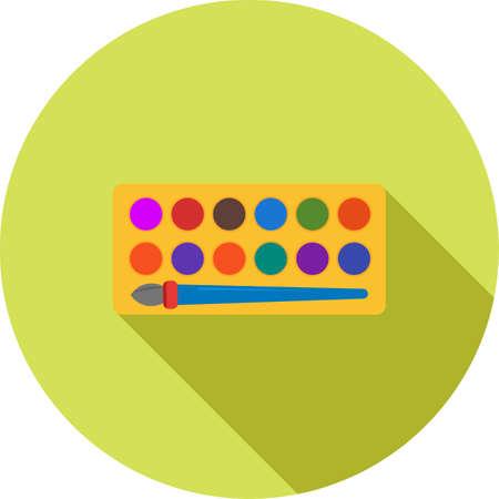 Paints box icon Illustration