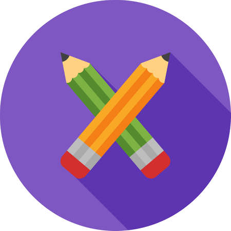 Two Pencils Icon Illustration