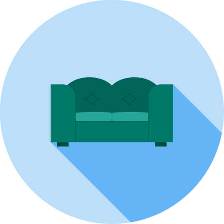 Double Sofa Icon Illustration