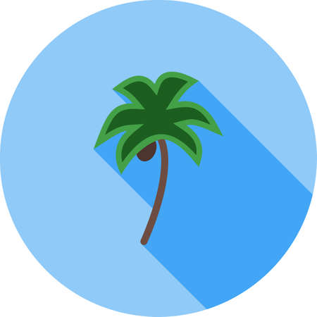 Coconut trees Icon Stock Illustratie
