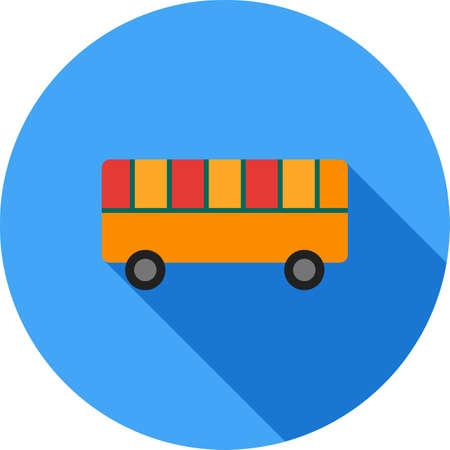 Toy Bus Icon Illustration