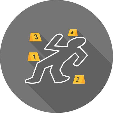 Dead body icon Illustration