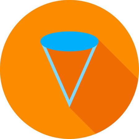 Cone, mathematics, Geometry  イラスト・ベクター素材