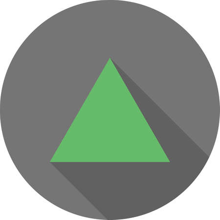 Green triangle icon design.