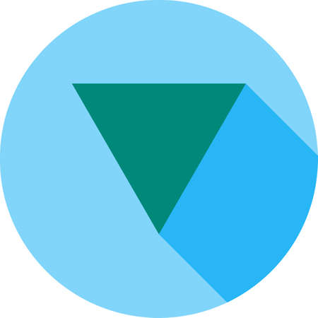 Inverted triangle icon. 向量圖像