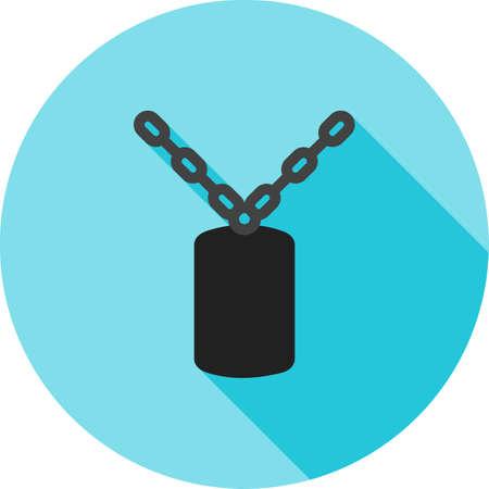 Militrary Chain Icon Illusztráció