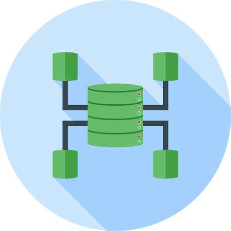 Data Warehouse icon Illustration