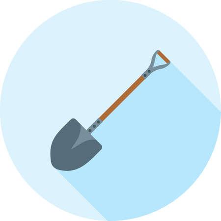 Shovel, tool hand icon. Çizim