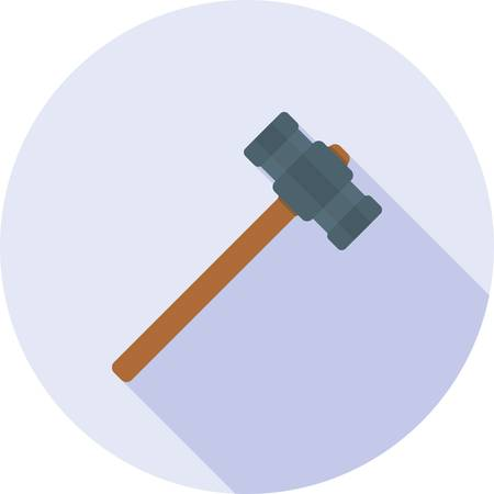 Sledge hammer icon. Illustration