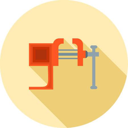 Vice tool, pressure icon. Illustration