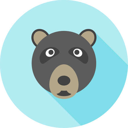 Bear face icon. Çizim