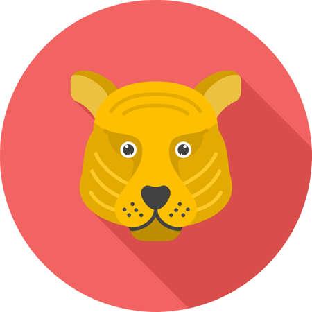 Tiger Face icon Vectores