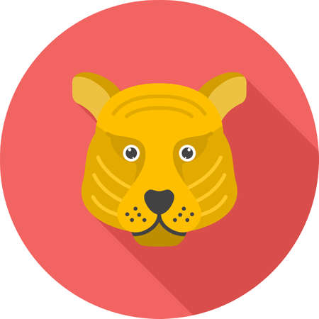 Tiger Face icon Stock Illustratie