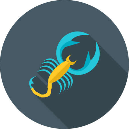 Scorpio sign icon Vectores