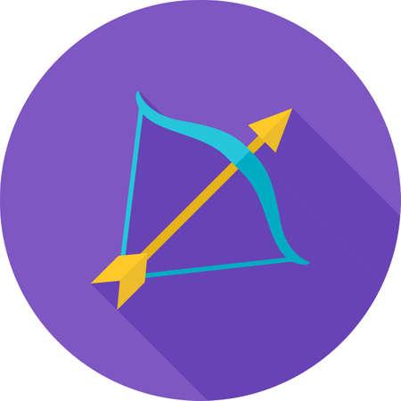 Sagittarius sign icon Stock Illustratie