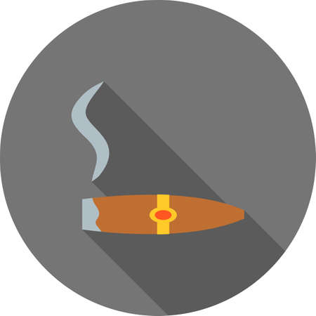 Lit Cigar Lighter icon Illustration