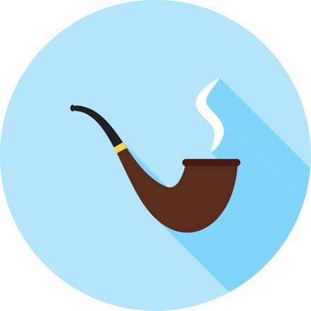 Lit Smoking Pipe Ilustrace