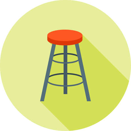 Stool chair icon