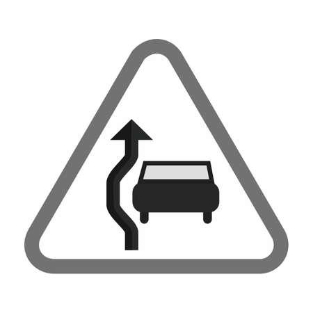 Overtake traffic sign.