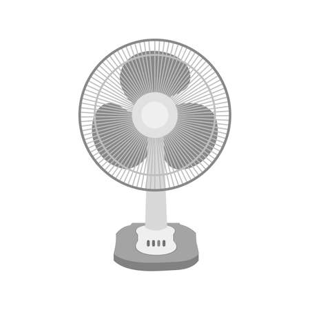 Electric Fan icon illustration on white background. 矢量图像