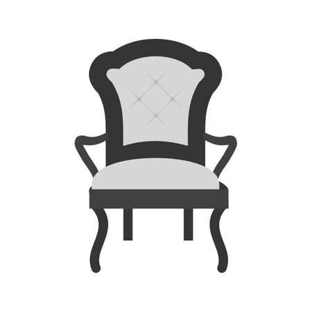 Comfortable Chair icon illustration on white background.