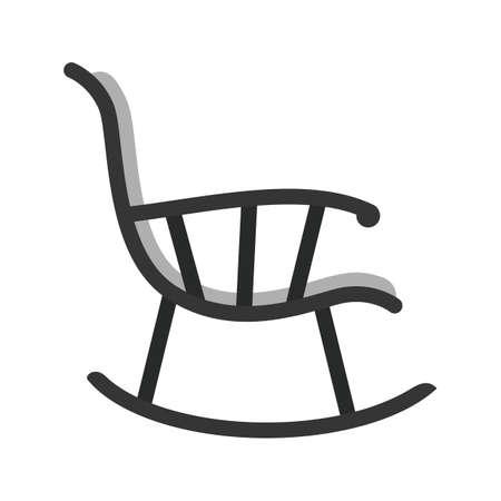 Icône de chaise berçante Vecteurs