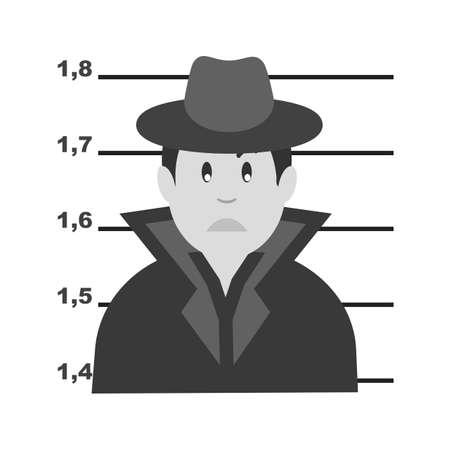 Verhaftet kriminelle Symbol Illustration auf weißem Hintergrund Standard-Bild - 101016158