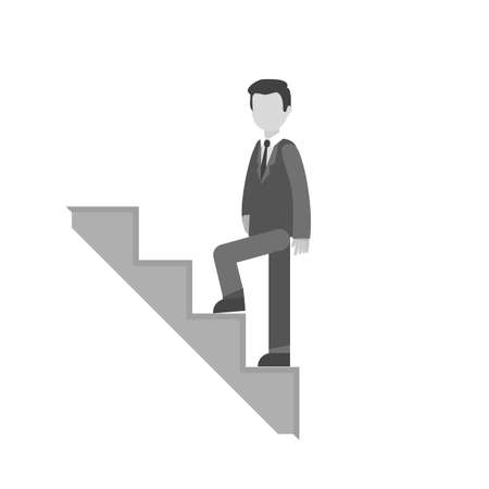 Man stairs icon