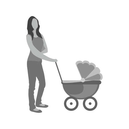 Walking with baby in stroller