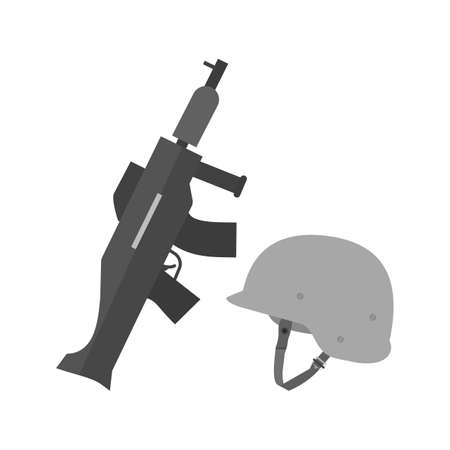 Gun and Helmet