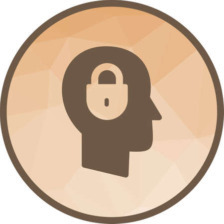 Confidentiality, Security icon in light circle illustration. Иллюстрация