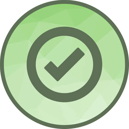 Quality Control, stamp icon in light circle illustration.