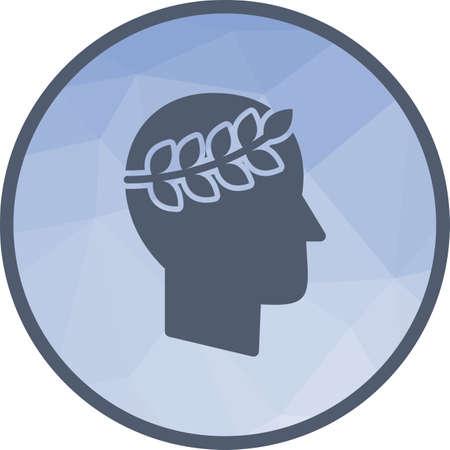 Reputation Management icon icon in light circle illustration. Illusztráció