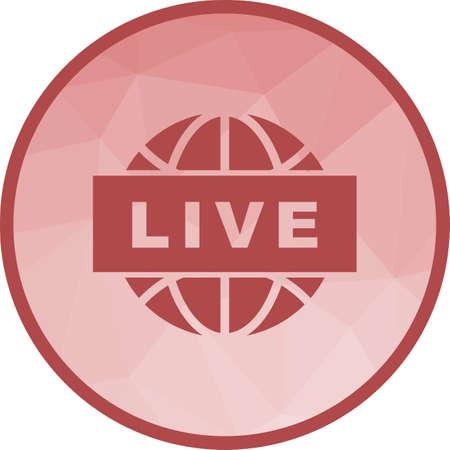 Live News icon Ilustração