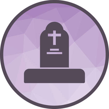 Grave, funeral icon Illustration