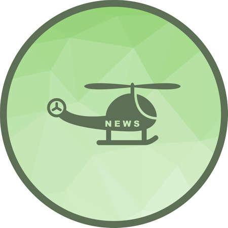 News Helicopter icon Vectores