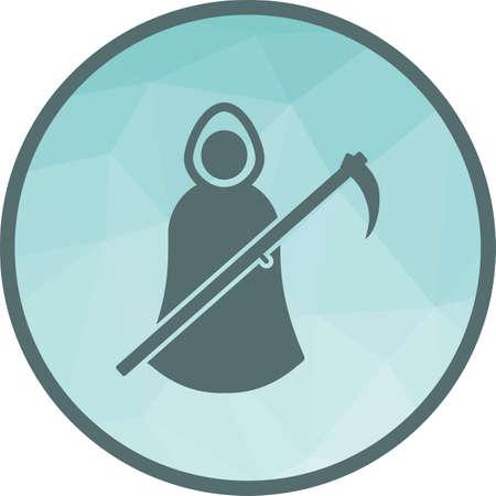 Hooded Figure , black icon
