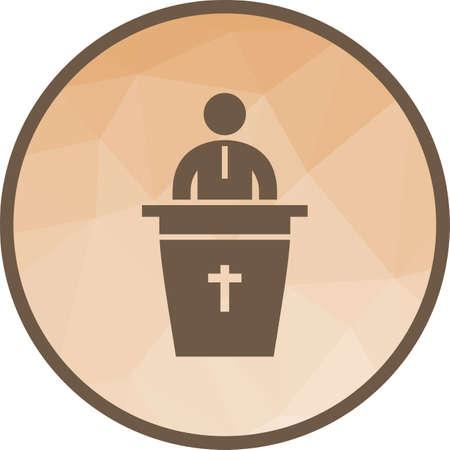 Speaking on Funeral Ilustrace