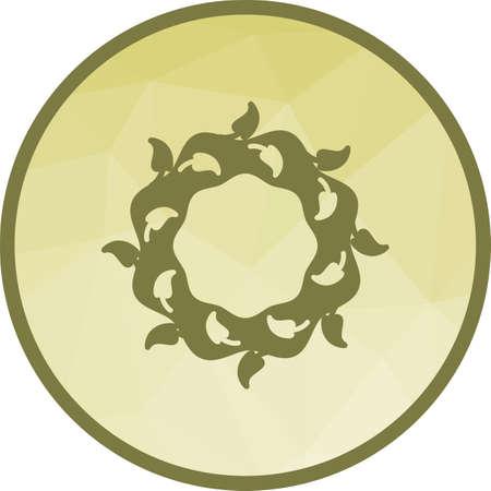 Wreath, flowers icon