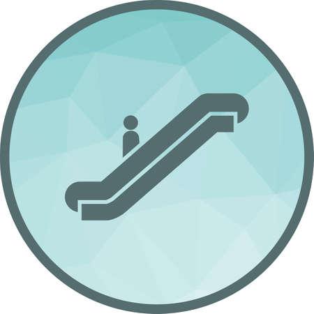 Escalator, airport, elevator Ilustração