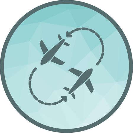 Round Travel Flights Illustration