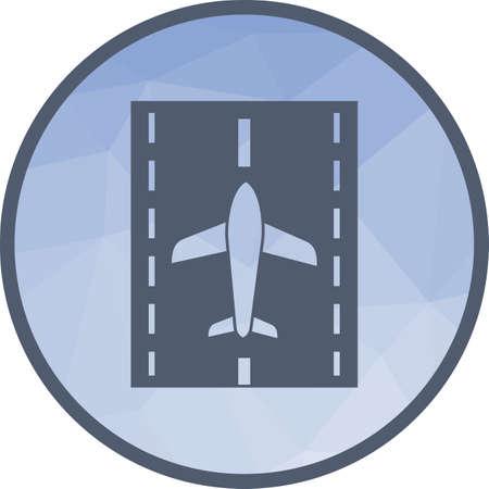 Runway, airport, plane Фото со стока - 101034795