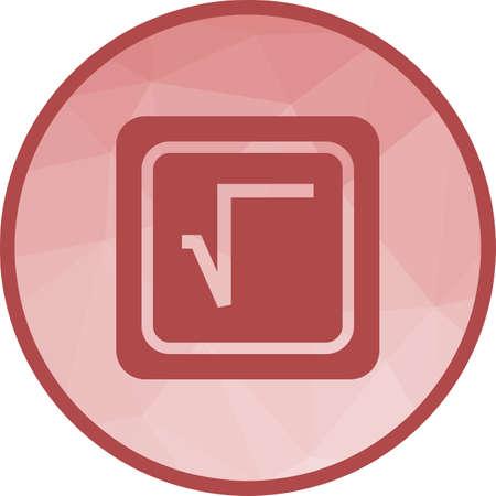Square Root Symbol Vettoriali
