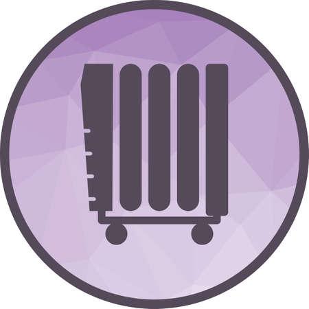 Oil Heater icon Stock Vector - 101030286