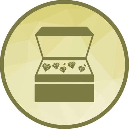 Open Treasure Box Illustration