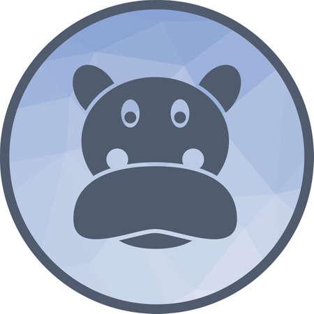 Hippopotamus Face icon