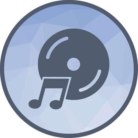 Music CD icon Imagens - 101437594