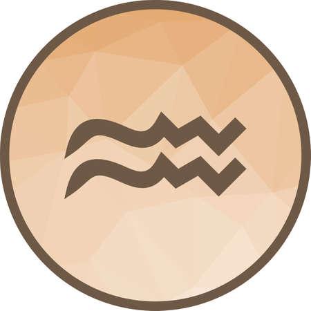 Aquarius Sign icon