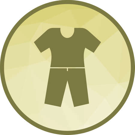 Pyjamas Suit Icon Vettoriali